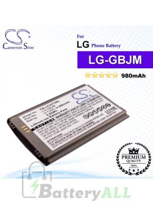 CS-LCU575SL For LG Phone Battery Model LG-GBJM