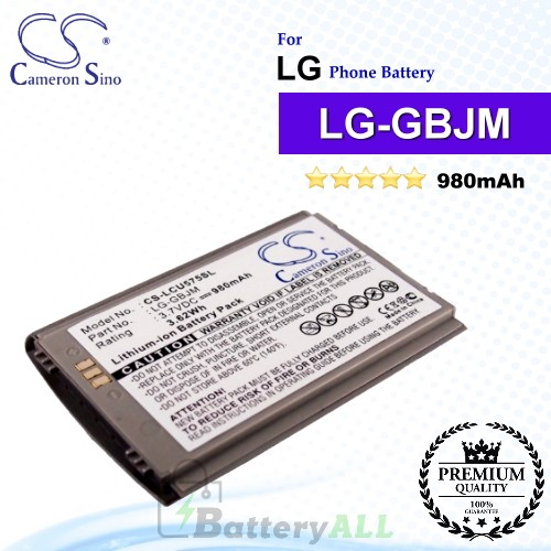 CS-LCU575SL For LG Phone Battery Model LG-GBJM