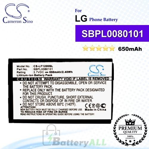 CS-LF1200SL For LG Phone Battery Model SBPL0080101