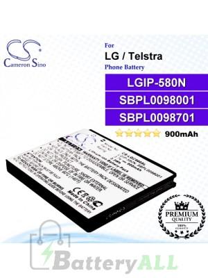 CS-LGC900SL For LG Phone Battery Model LGIP-580N / SBPL0098001 / SBPL0098701