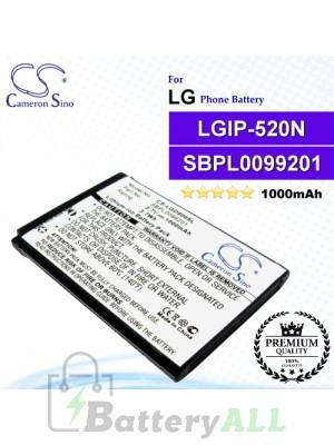 CS-LGD900SL For LG Phone Battery Model LGIP-520N / SBPL0099201