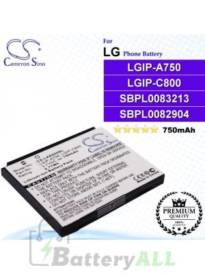 CS-LKE850SL For LG Phone Battery Model LGIP-A750 / LGIP-C800