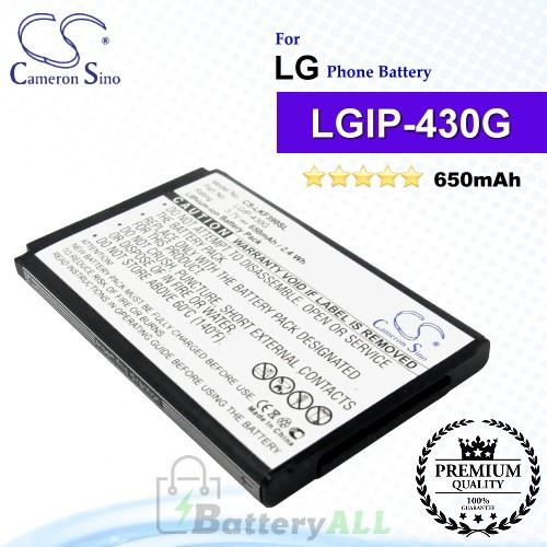 CS-LKF390SL For LG Phone Battery Model LGIP-430G