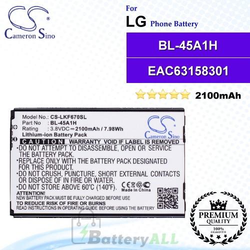 CS-LKF670SL For LG Phone Battery Model BL-45A1H / EAC63158301