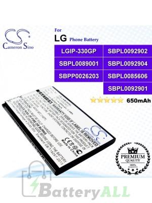 CS-LKM380SL For LG Phone Battery Model LGIP-330GP / SBPL0092902 / SBPL0089001 / SBPL0092904 / SBPP0026203 / SBPL0085606 / SBPL0092901