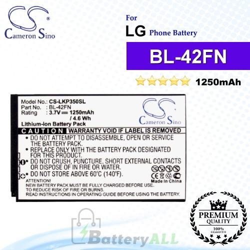 CS-LKP350SL For LG Phone Battery Model BL-42FN