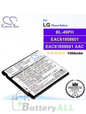 CS-LKP490SLFor LG Phone Battery Model BL-49PH / EAC61858601 / EAC61858601 AAC