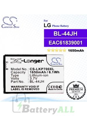 CS-LKP700XLFor LG Phone Battery Model BL-44JH / EAC61839001 / EAC61839006
