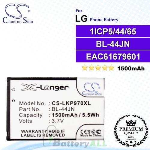 CS-LKP970XL For LG Phone Battery Model BL-44JN / EAC61679601 / 1ICP5/44/65