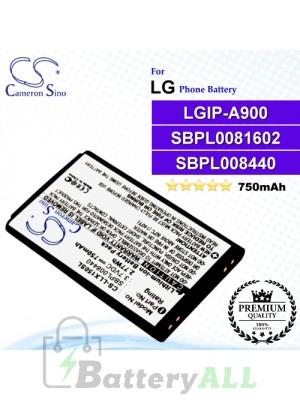 CS-LLX150SL For LG Phone Battery Model SBPL0081602 / LGIP-A900 / SBPL008440