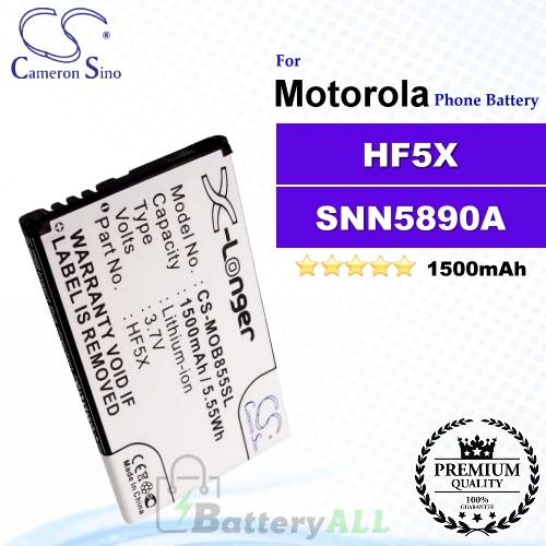CS-MOB855SL For Motorola Phone Battery Model HF5X / SNN5890A