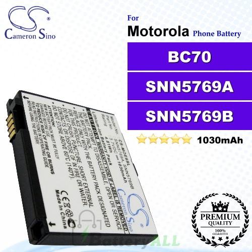 CS-MOE6SL For Motorola Phone Battery Model BC70 / SNN5769A / SNN5769B