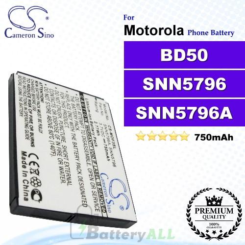 CS-MOF3SL For Motorola Phone Battery Model BD50 / SNN5796 / SNN5796A