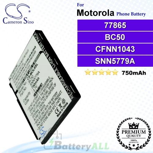 CS-MOL6SL For Motorola Phone Battery Model 77865 / BC50 / CFNN1043 / SNN5779 / SNN5779A / SNN5779B / SNN5779C