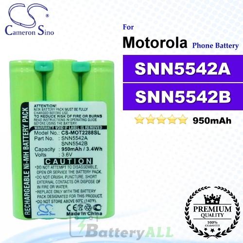 CS-MOT2288SL For Motorola Phone Battery Model SNN5542A / SNN5542B