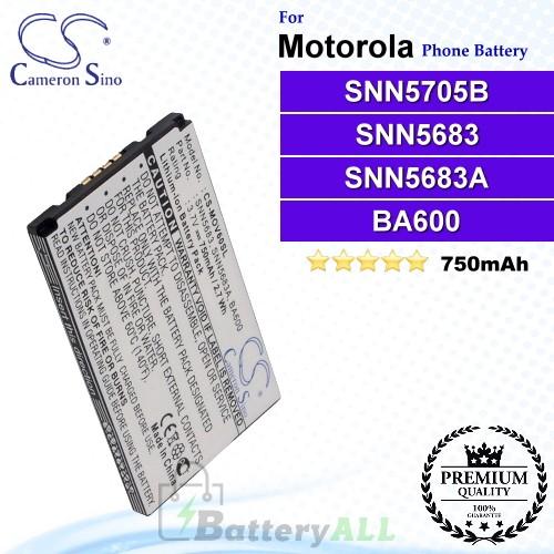 CS-MOV60SL For Motorola Phone Battery Model SNN5705B