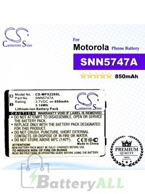 CS-MPX220SL For Motorola Phone Battery Model SNN5747A