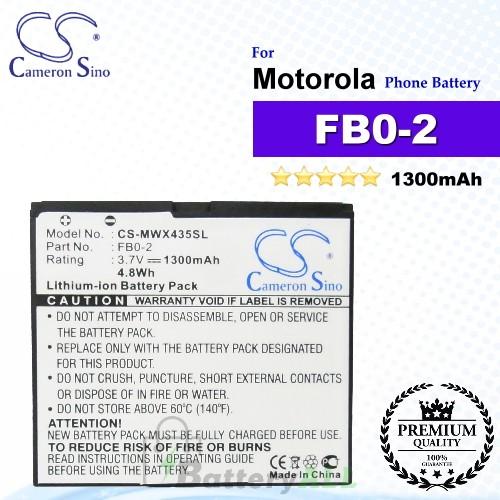 CS-MWX435SL For Motorola Phone Battery Model FB0-2