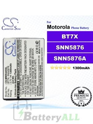 CS-MWX445SL For Motorola Phone Battery Model BT7X / SNN5876 / SNN5876A