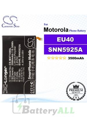 CS-MXT109SL For Motorola Phone Battery Model EU40 / SNN5925A