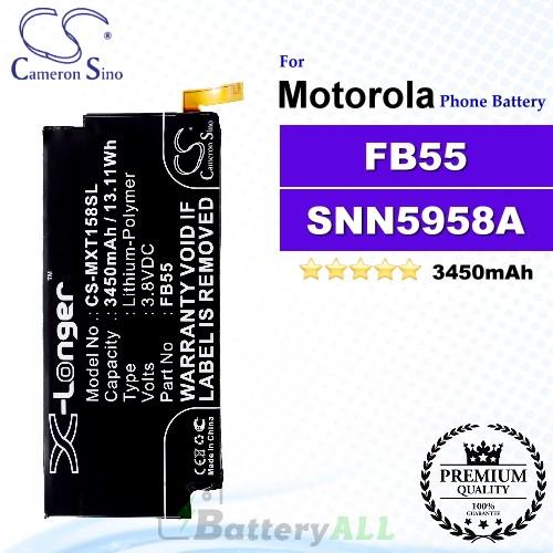 CS-MXT158SL For Motorola Phone Battery Model FB55 / SNN5958A