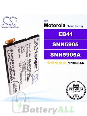 CS-MXT894SL For Motorola Phone Battery Model EB41 / SNN5905 / SNN5905A / SNN5905B