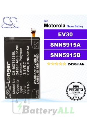 CS-MXT926SL For Motorola Phone Battery Model EV30 / SNN5915A / SNN5915B