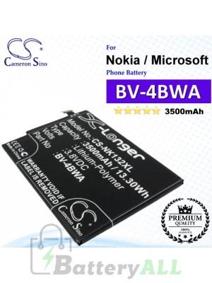 CS-NK132XL For Nokia / Microsoft Phone Battery Model BV-4BWA