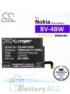 CS-NK152XL For Nokia Phone Battery Model BV-4BW