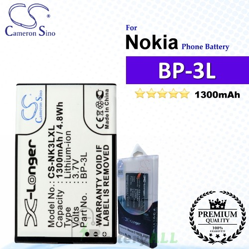 CS-NK3LXL For Nokia Phone Battery Model BP-3L