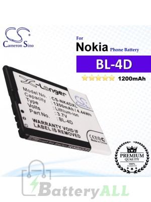 CS-NK4DXL For Nokia Phone Battery Model BL-4D