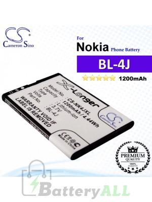CS-NK4JXL For Nokia Phone Battery Model BL-4J