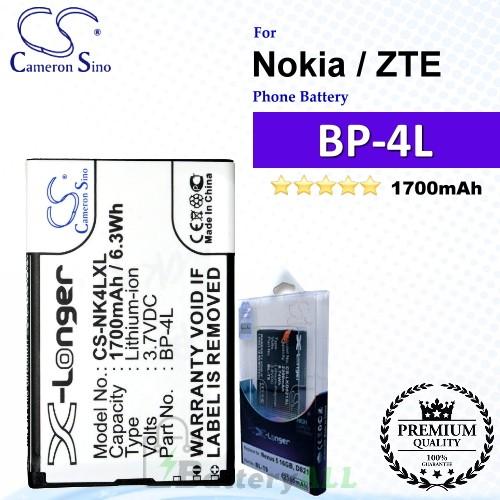 CS-NK4LXL For Nokia Phone Battery Model BP-4L