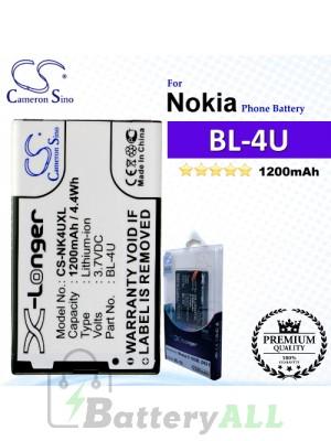 CS-NK4UXL For Nokia Phone Battery Model BL-4U