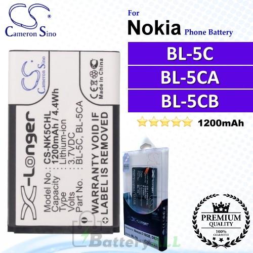 CS-NK5CHL For Nokia Phone Battery Model BL-5C / BL-5CA