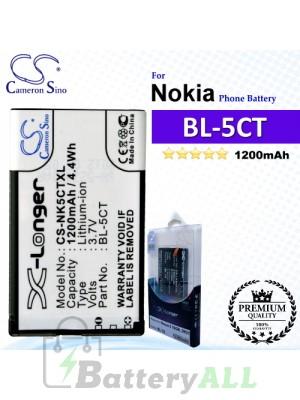 CS-NK5CTXL For Nokia Phone Battery Model BL-5CT