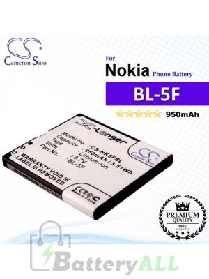 CS-NK5FSL For Nokia Phone Battery Model BL-5F