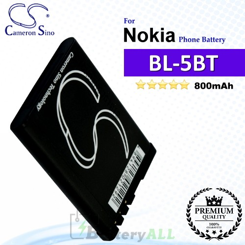 CS-NK5TSL For Nokia Phone Battery Model BL-5BT