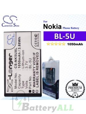 CS-NK5UXL For Nokia Phone Battery Model BL-5U
