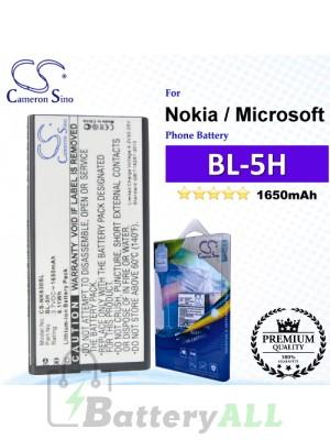 CS-NK630SL For Nokia / Microsoft Phone Battery Model BL-5H
