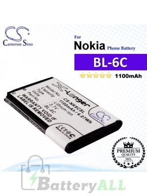 CS-NK6CSL For Nokia Phone Battery Model BL-6C