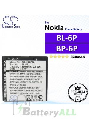 CS-NK6PSL For Nokia Phone Battery Model BL-6P / BP-6P