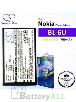 CS-NK6USL For Nokia Phone Battery Model BL-6U