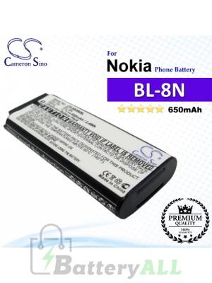 CS-NK8NSL For Nokia Phone Battery Model BL-8N