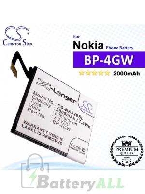 CS-NK920SL For Nokia Phone Battery Model BP-4GW