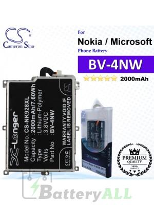 CS-NK928XL For Nokia / Microsoft Phone Battery Model BV-4NW