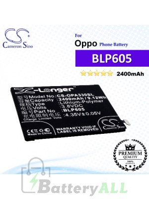 CS-OPA330SL For Oppo Phone Battery Model BLP605