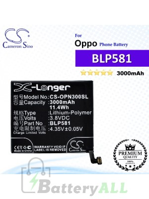CS-OPN300SL For Oppo Phone Battery Model BLP581