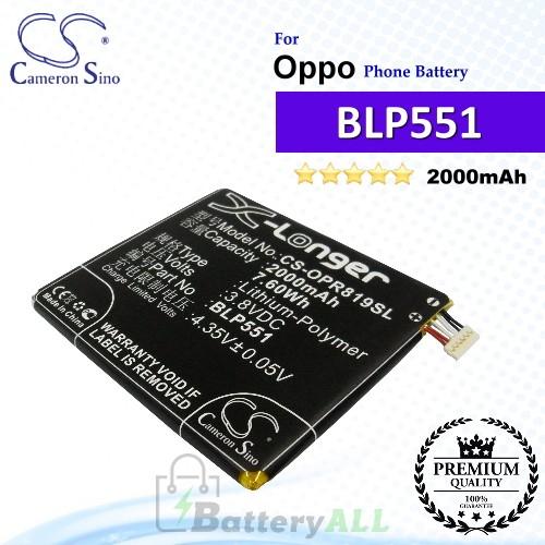 CS-OPR819SL For Oppo Phone Battery Model BLP551