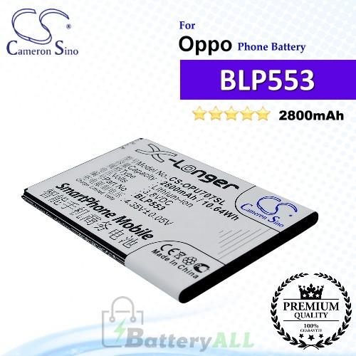 CS-OPU707SL For Oppo Phone Battery Model BLP553